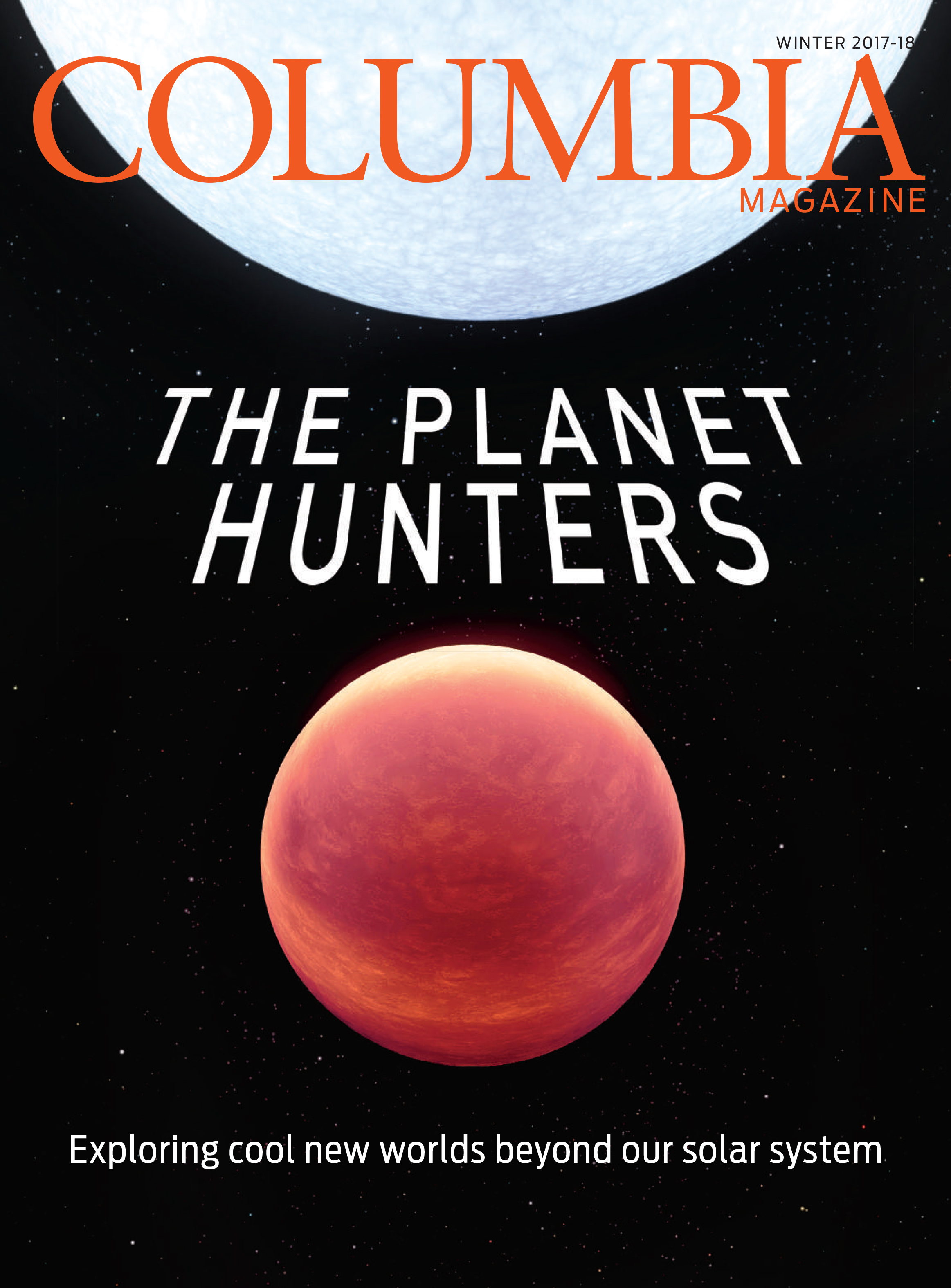 Cover of winter 2017-18 issue of Columbia Magazine