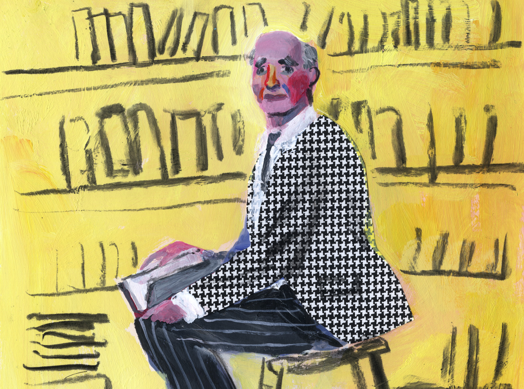 Phillip Lopate painting