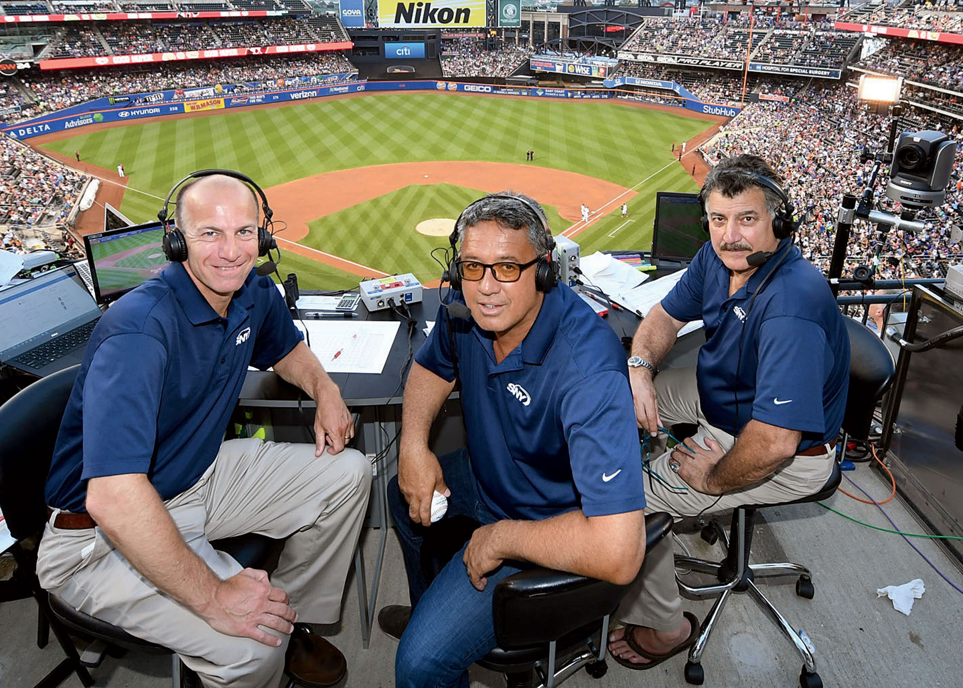 Gary Cohen, Ron Darling, and Keith Hernandez