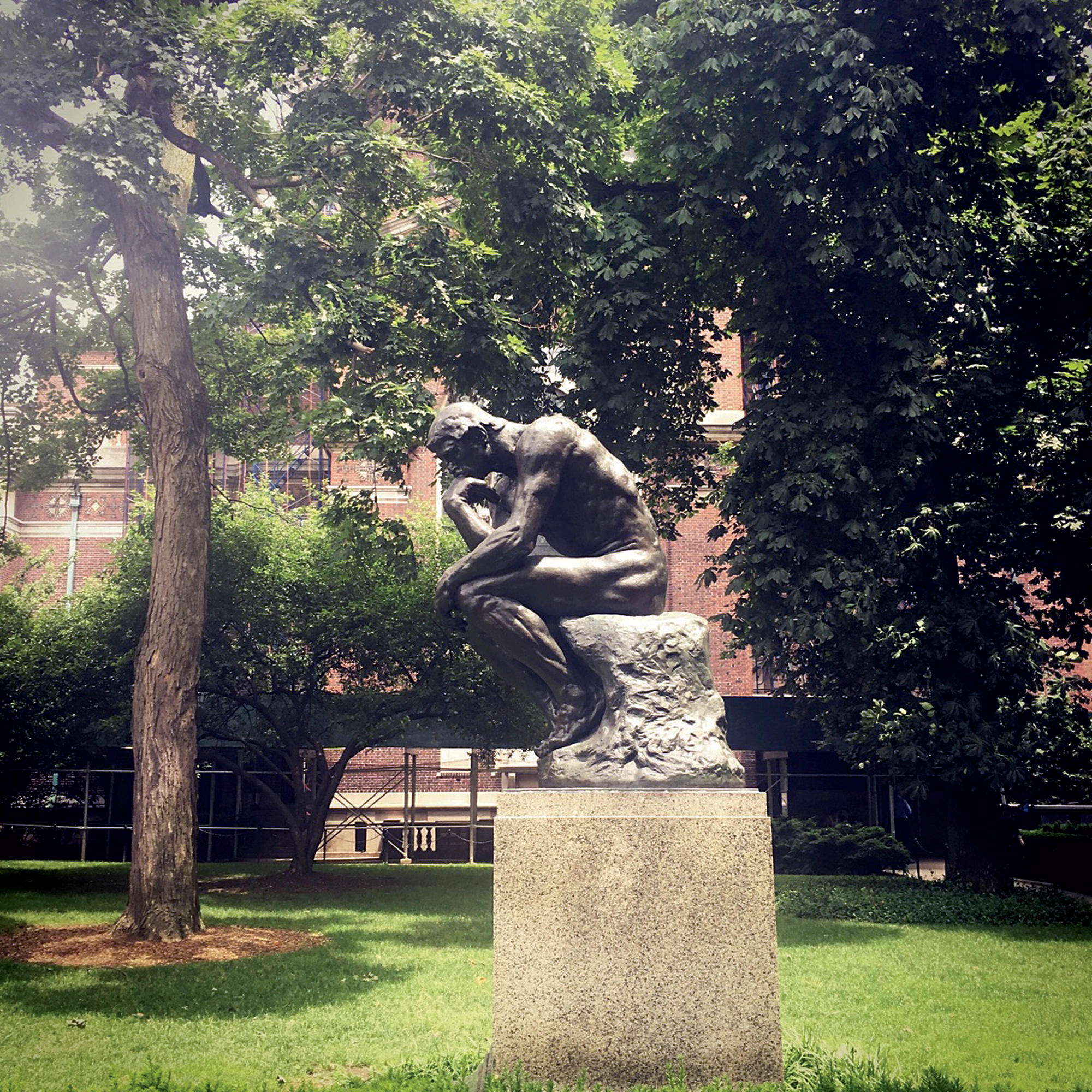 """The Thinker"" statue at Columbia"