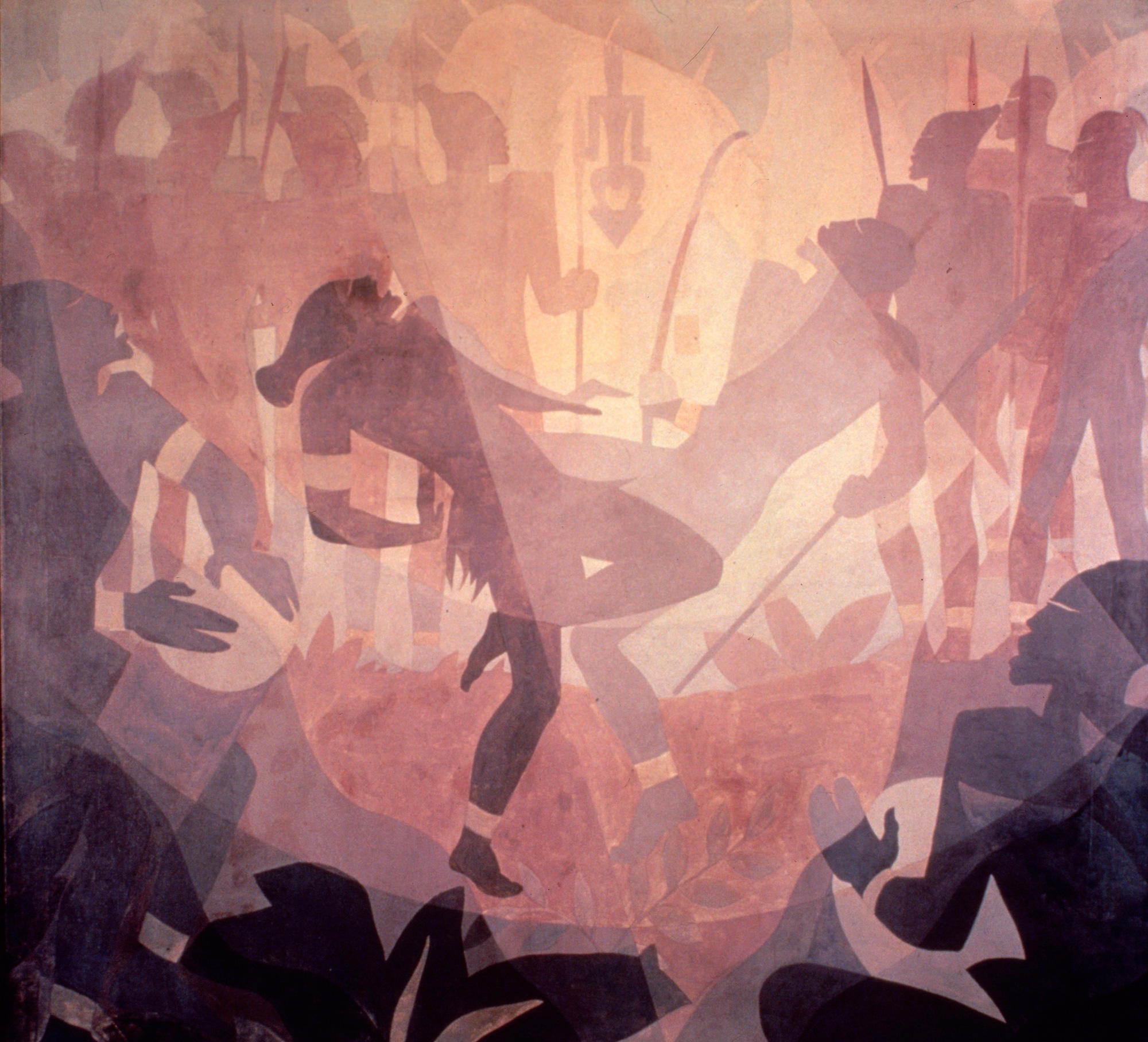 """Aspects of Negro Life: The Negro in an African Setting"" by Aaron Douglas"
