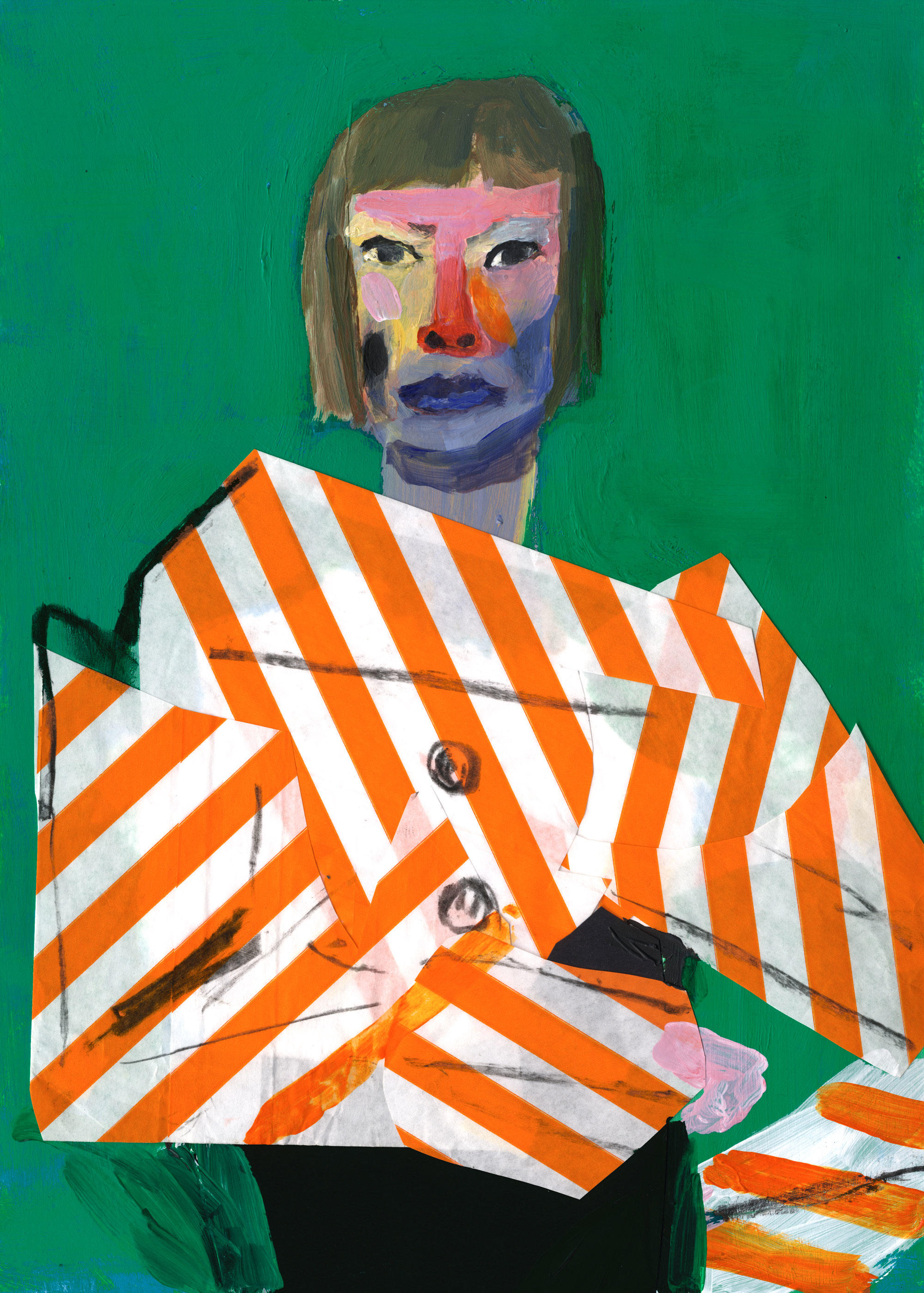 Painting of Joan Didion