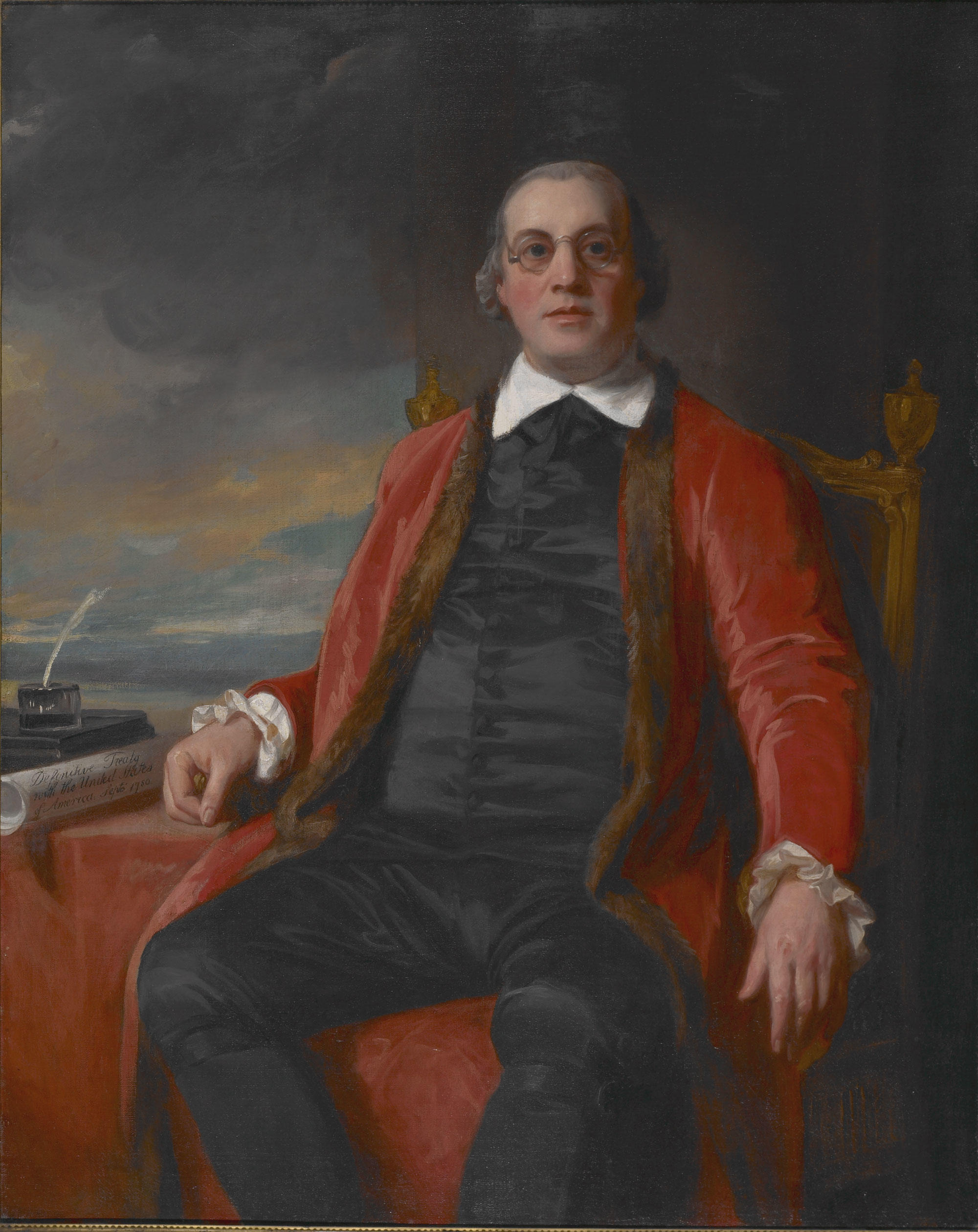 Portrait of David Hartley / George Romney