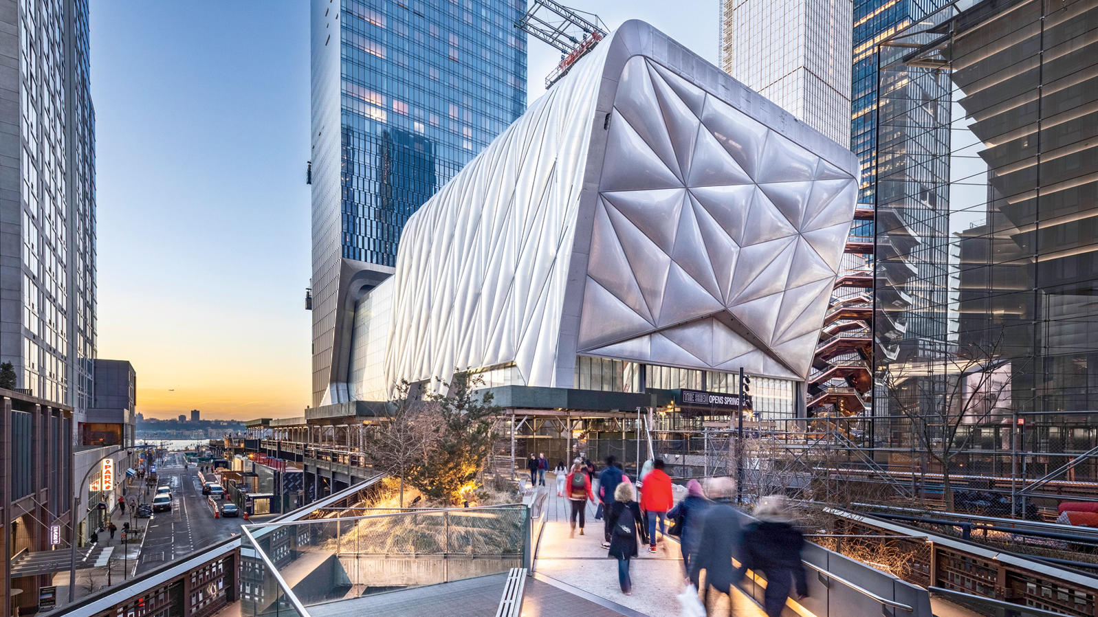 Exterior of The Shed in Hudson Yards, seen from the High Line