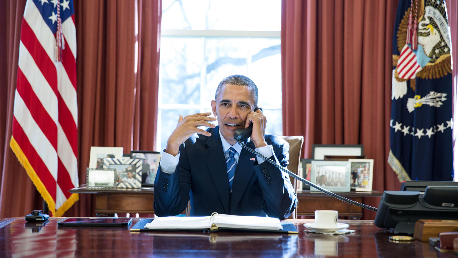 President Obama in the Oval Office in 2016