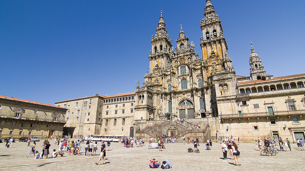 The Cathedral of Santiago de Compostela, home of the shrine of St. James