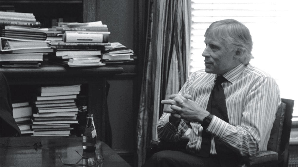 Lee C. Bollinger in office at Columbia University