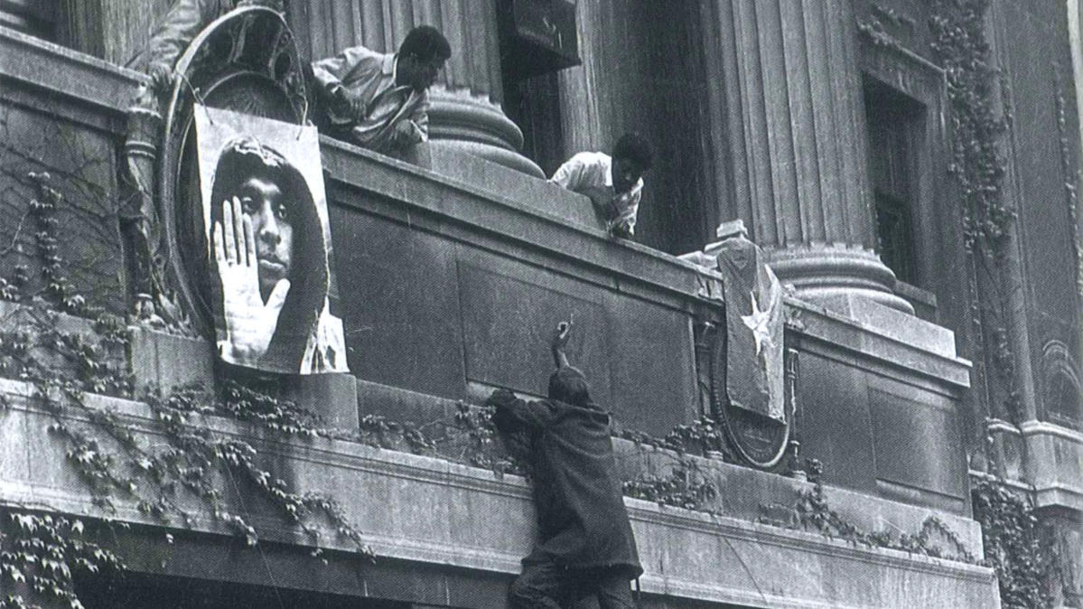Photo from Columbia campus 1968 protest