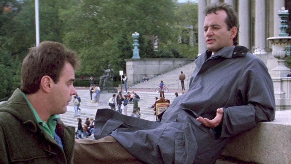 Dan Aykroyd and Bill Murray on Columbia University campus in Ghostbusters