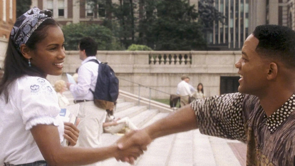 "Will Smith on Columbia University campus in ""Hitch"""