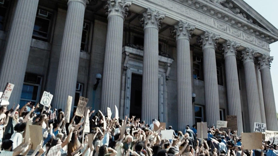 A scene shot outside Columbia University's Low Library in The Post