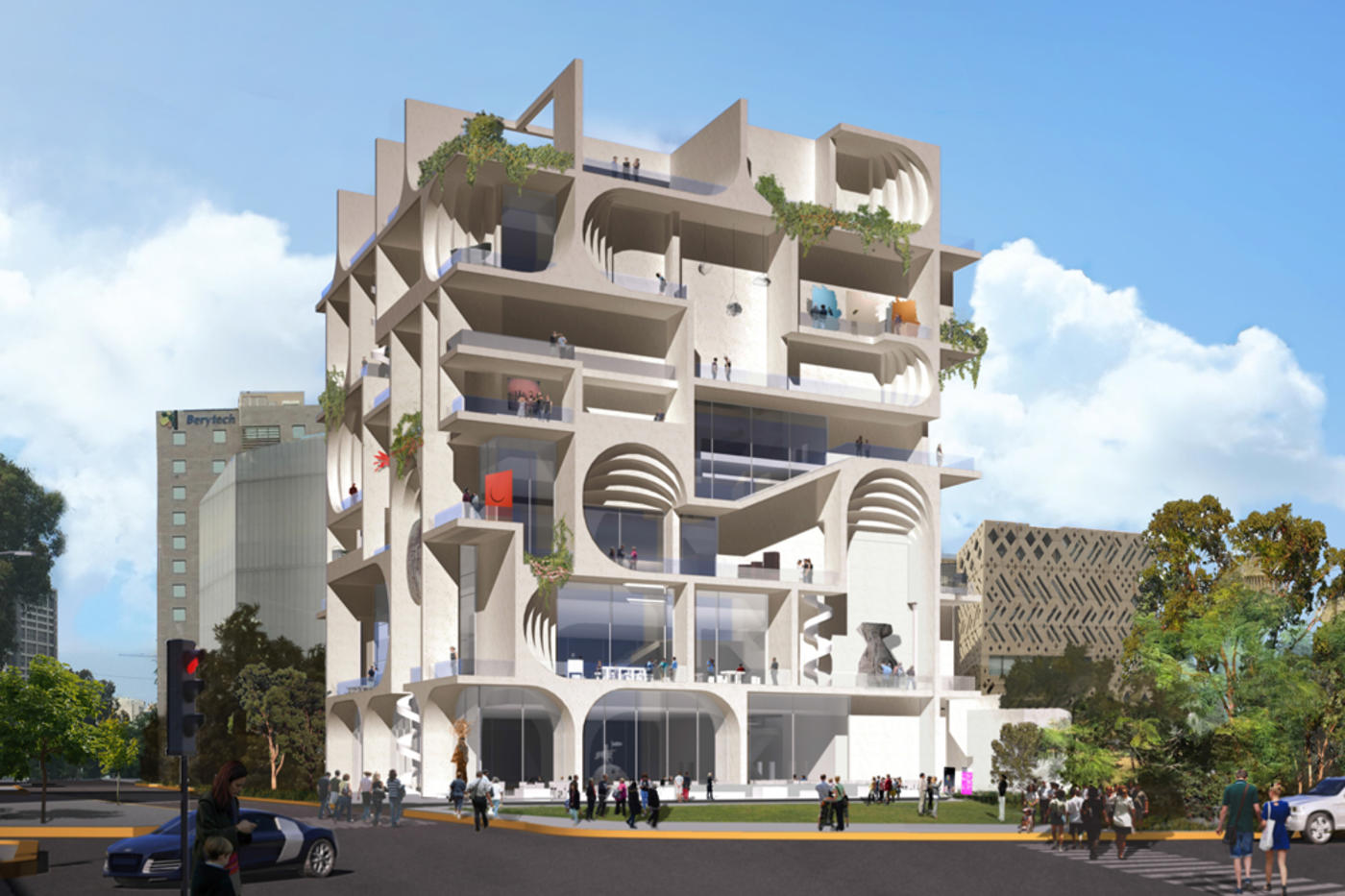 Rendering for the Beirut Museum of Art (exterior)