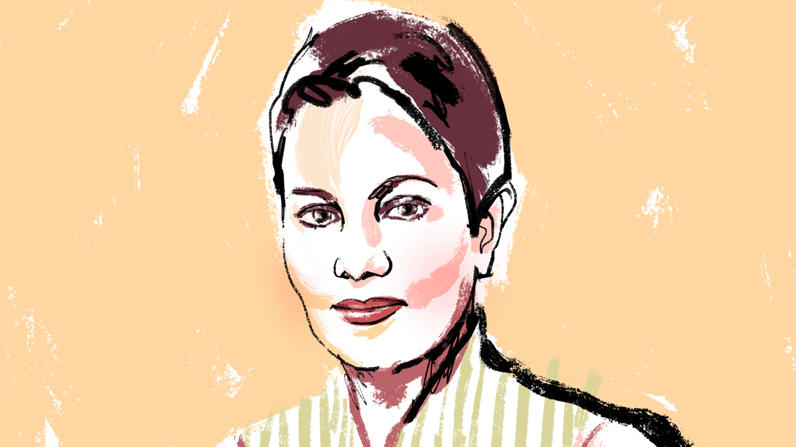 Illustration of Azra Raza by Jonny Ruzzo