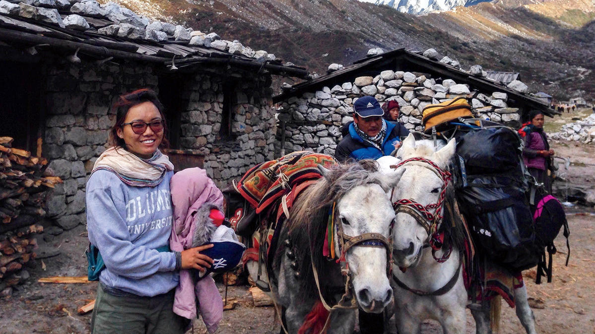 Tsechu Dolma, founder of the Mountain Resiliency Project, in the Nepali Himalayas