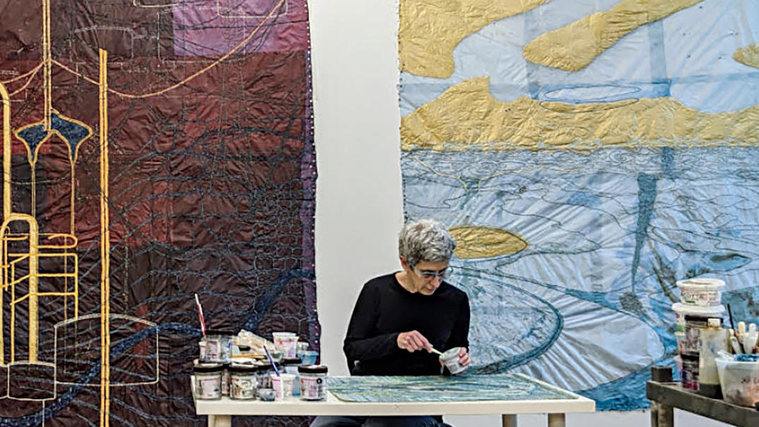 Artist Nancy Cohen in studio