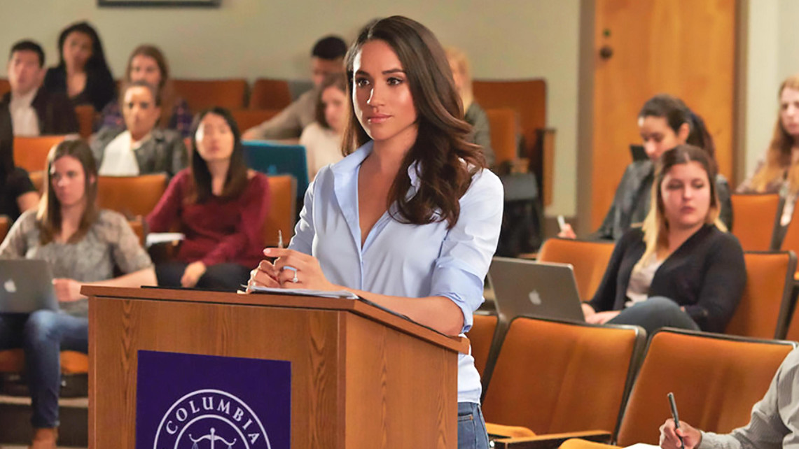 Meghan Markle as Rachel Zane at Columbia Law School in Suits