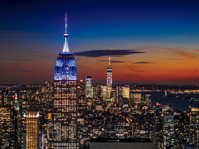 Photo of Empire State Building and NYC skyline
