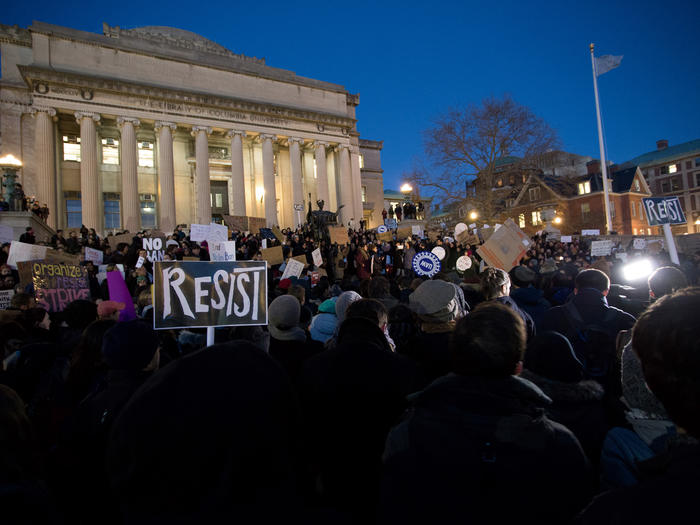 Protest on Columbia campus