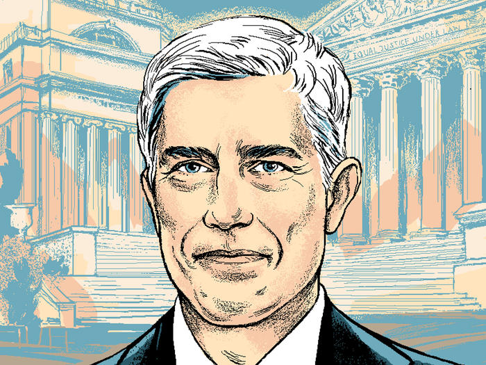 Illustration of Neil Gorsuch