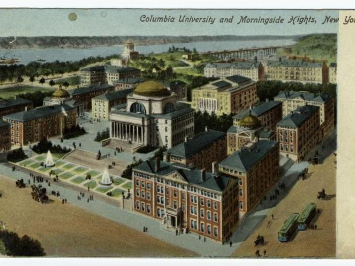 Columbia vintage campus map