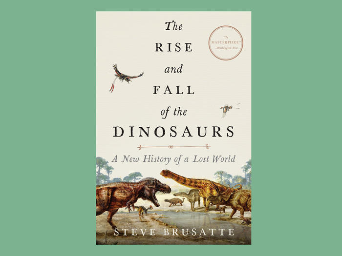 """The Rise and Fall of the Dinosaurs"" book cover"