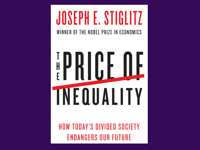 "Book cover: ""The Price of Inequality"" by Joseph E. Stiglitz"