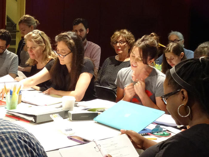 "Diane Paulus directs a read-through of ""Waitress"" in Boston"