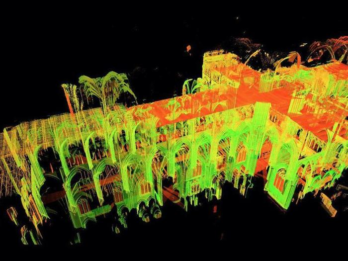 Laser scan of Notre Dame Cathedral