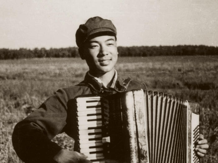 Zhou Long with accordion