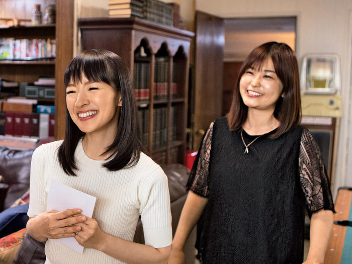Marie Kondo and her translator, Marie Iida
