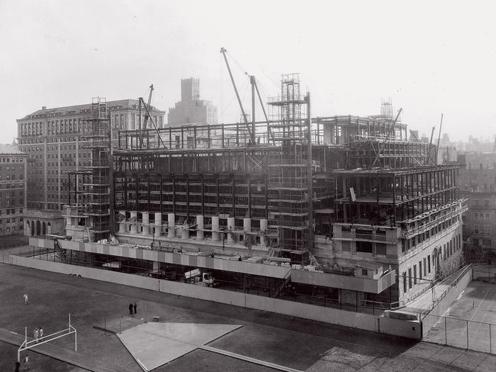 Construction of Butler Library in 1932