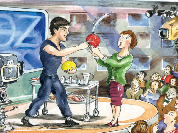 Illustration of taping of the Dr. Oz show