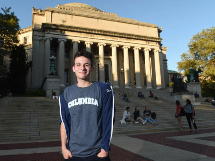 Cameron Kasky at Columbia University