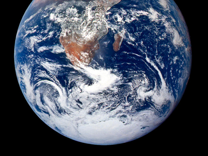 NASA photo of the Earth from outer space, taken in 1970