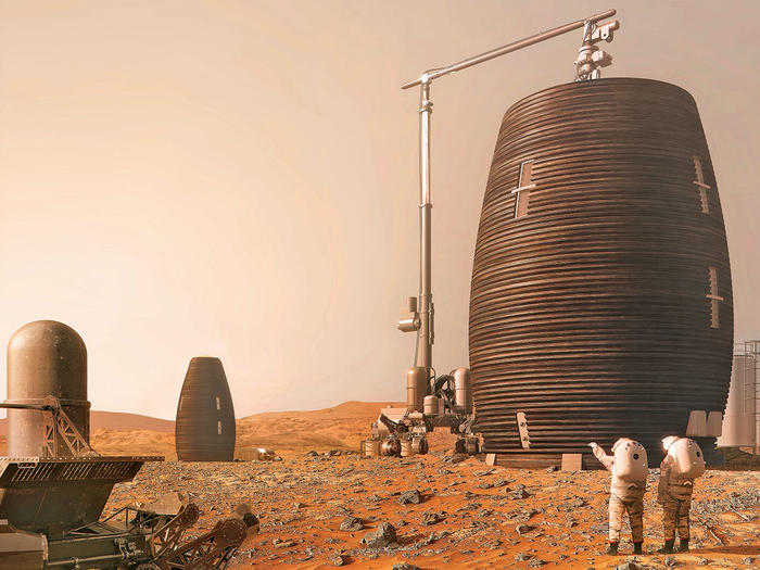 A rendering of MARSHA, a Mars habitat designed by AI SpaceFactory