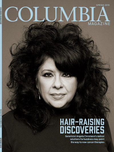 Columbia Magazine Spring 2019 cover with Angela Christiano