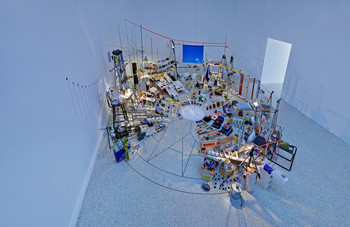"""Triple Point (Pendulum)"" by Sarah Sze"