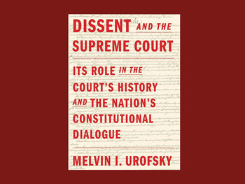 """Dissent and the Supreme Court"" cover"
