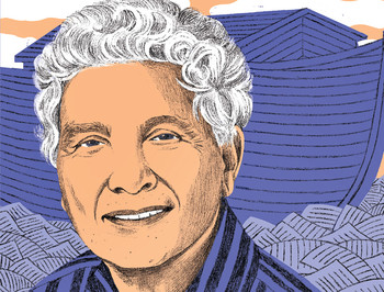 Illustration of Robert Alter