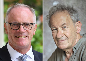 Alex Halliday and Simon Schama