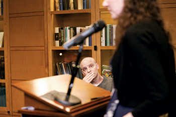 David Rakoff at Lit Night at the Columbia Alumni Center on April 25, 2012