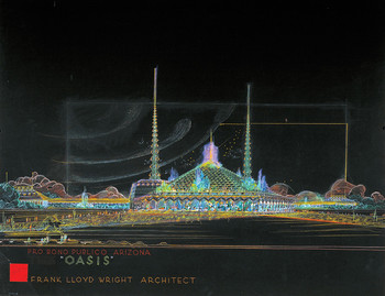 Frank Lloyd Wright's 1957 rendering of the Arizona State Capitol
