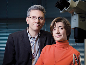 Columbia researchers Antonio Iavarone and Anna Lasorella