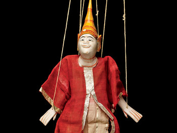 Yoke thé marionette puppet from Burma