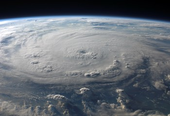Photo of hurricane from outer space