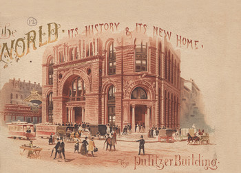 Vintage illustration of the Pulitzer Building