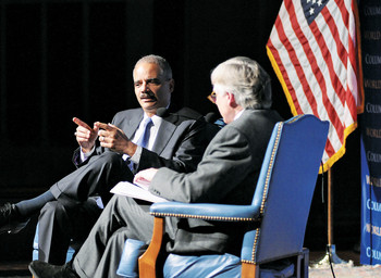 Eric Holder and Lee Bollinger