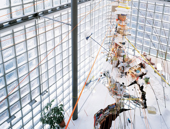 """Hermes 1"" sculpture by Sarah Sze"