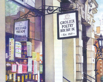 Painting of the Grolier Poetry Book Shop