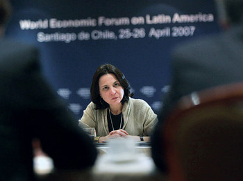 Karen Poniachik at a World Economic Forum event in Santiago, Chile in 2007
